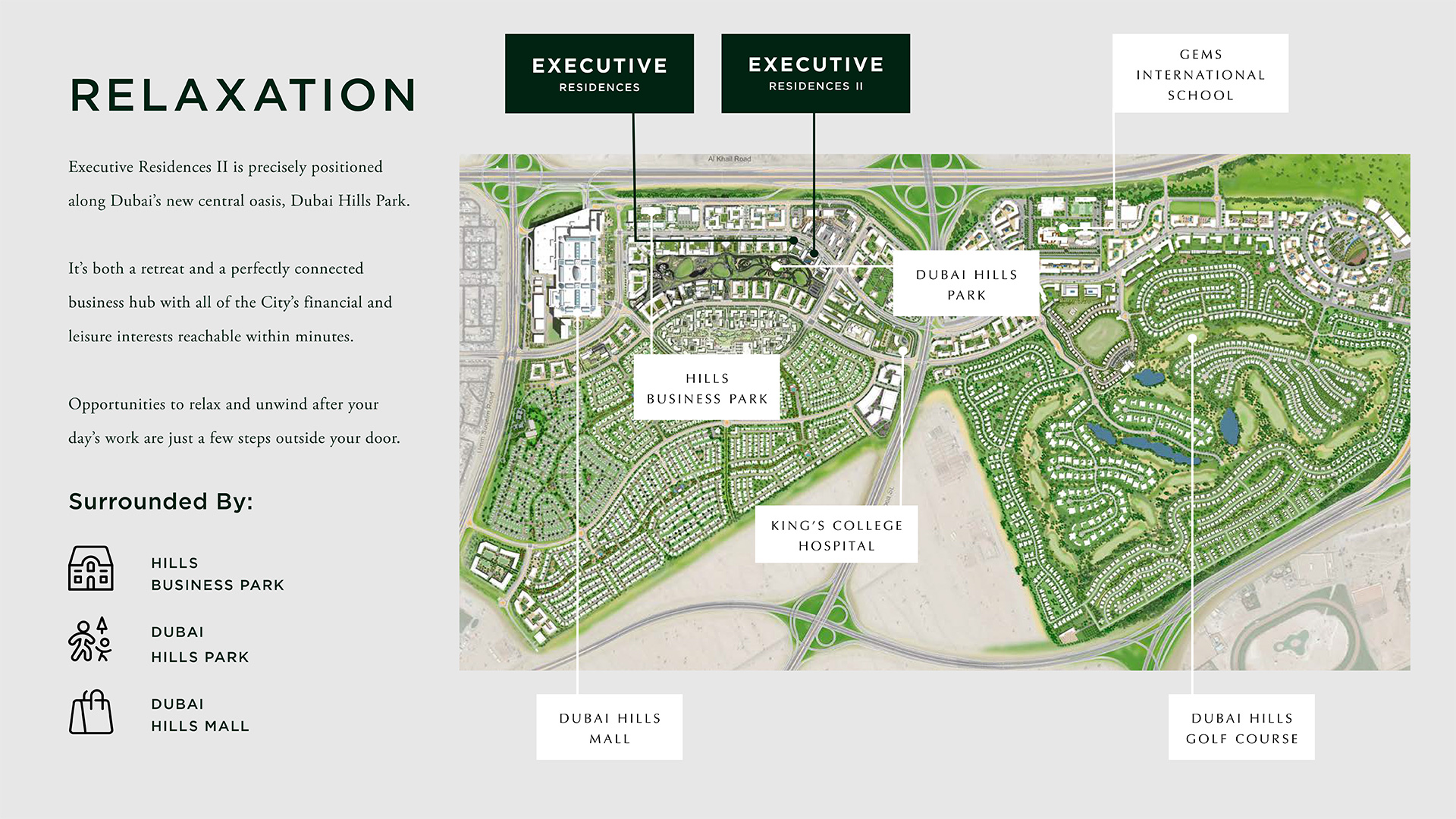 Emaar Executive Residences II at Dubai Hills Estate Location